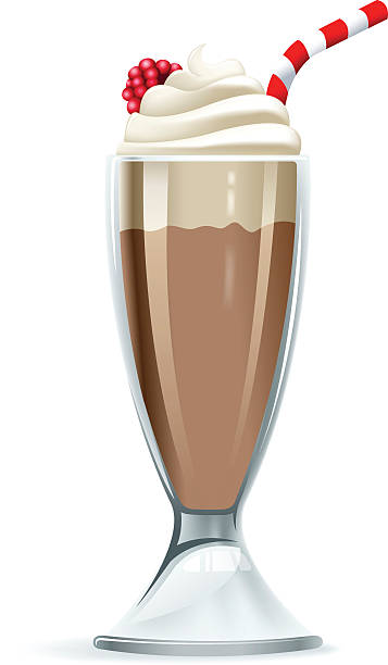 Photorealistic illustration of chocolate milkshake